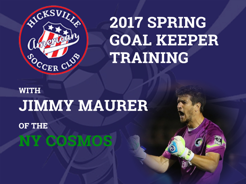 2017 Spring Goalie Training with Jimmy Maurer