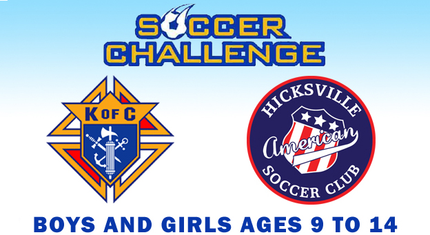 Knights of Columbus Soccer Challenge 9/23 at 1:30pm