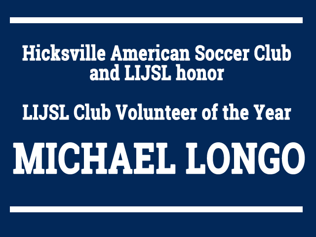 HASC and LJISL Honor Michael Longo Club Volunteer of the Year 2017